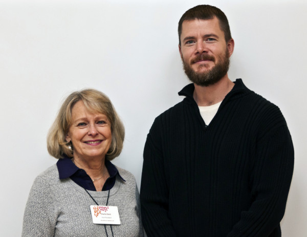 First Vice President, Charla Dent with new Horticulture scholarship recipient, Brett Caldwell.