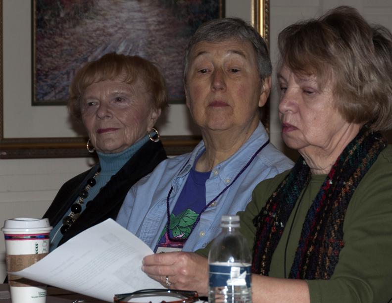 Barbara McDonald, Susan Randall (Speaker) and Karen Varty.